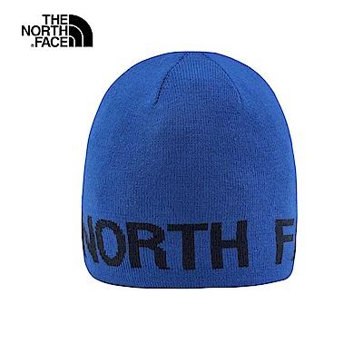 The North Face北面藍色雙面穿戴保暖針織帽|AKND1SK