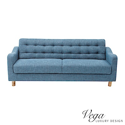 Vega 伊澤可收納三人沙發/沙發床/3人座(2色)-DIY