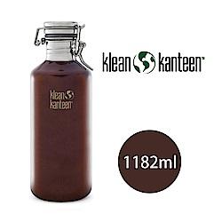【美國Klean Kanteen】快扣啤酒窄口不鏽鋼瓶-1182ml 深琥珀