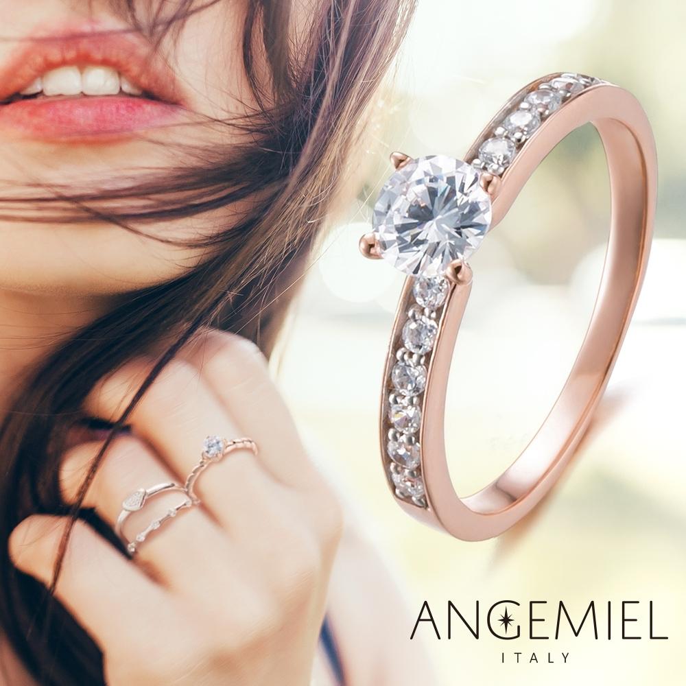 [時時樂限定]Angemiel安婕米 925純銀戒指.珍珠.質感K金.義式幸運
