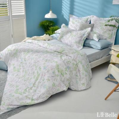 義大利La Belle 青青草原  特大純棉防蹣抗菌吸濕排汗兩用被床包組