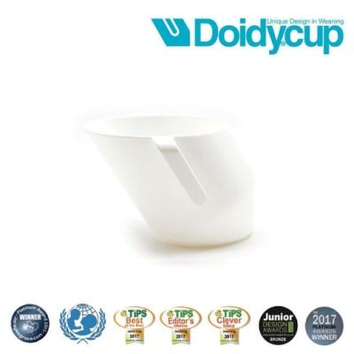 【英國Doidy cup】彩虹學習杯/訓練杯/刷牙杯-珍珠白(專利造型設計 喝水看的見)