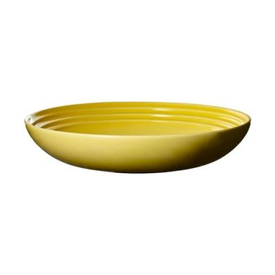 LE CREUSET 瓷器義麵盤 22cm(閃亮黃)