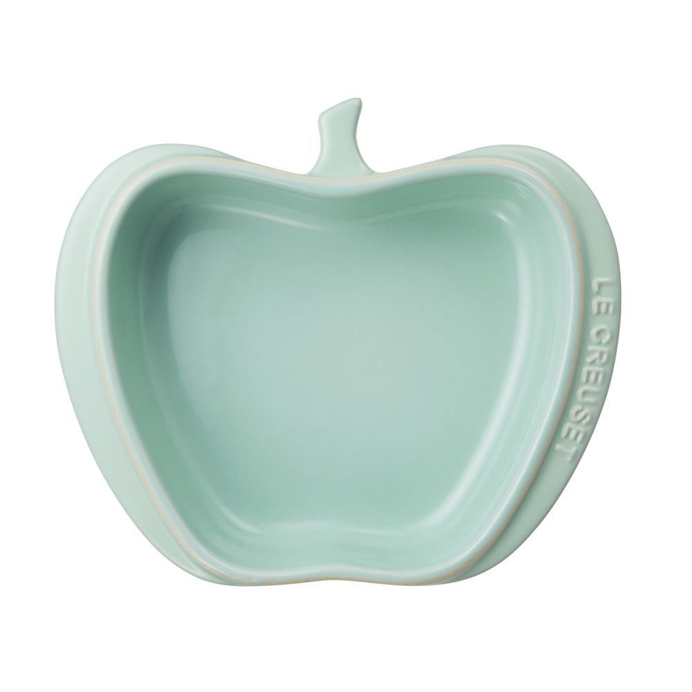 LE CREUSET瓷器迷你蘋果造型烤盤(甜薄荷)