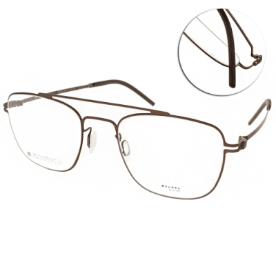 VYCOZ眼鏡 DURRA系列 薄鋼 復古雙槓飛官款 /棕 #DR9201 BRN