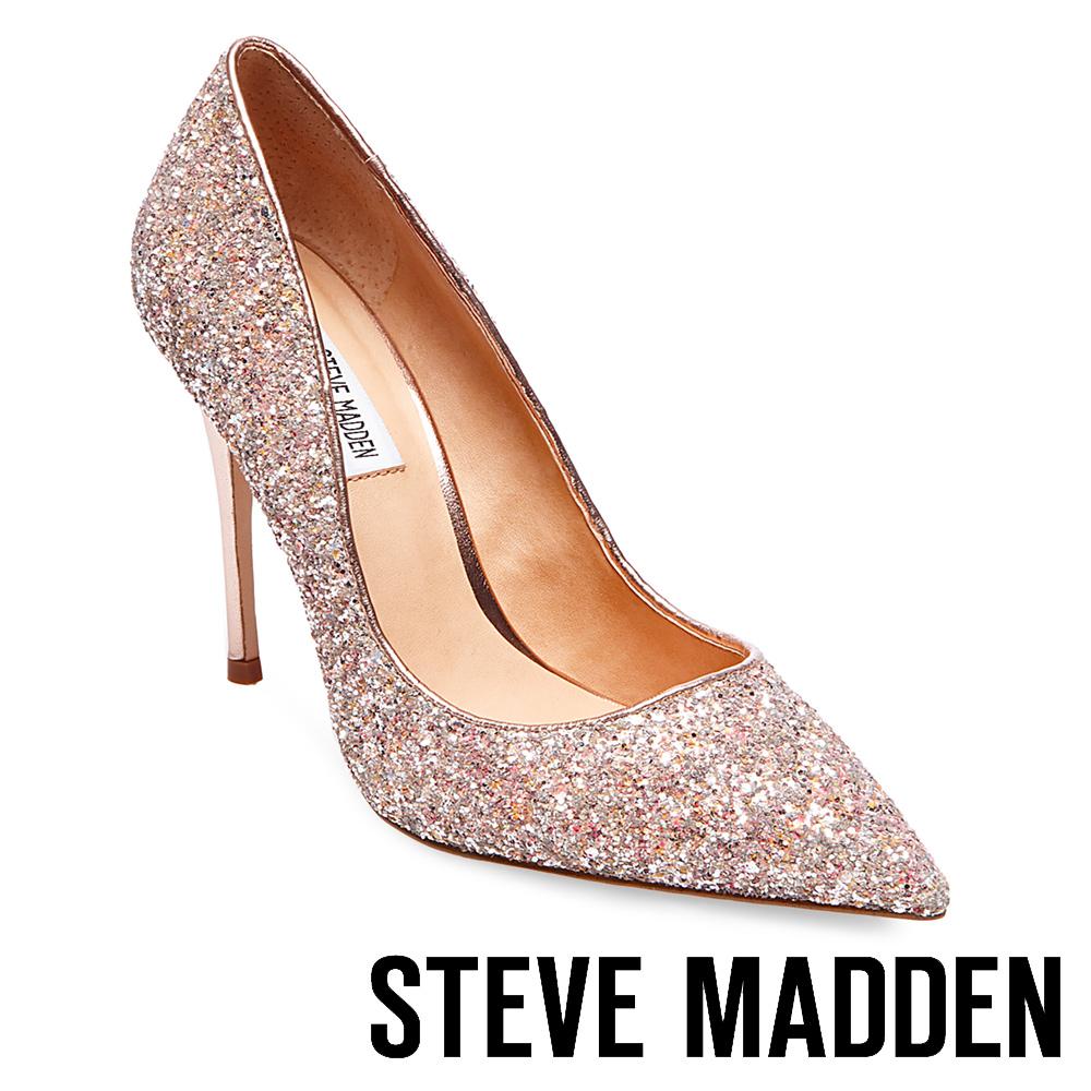STEVE MADDEN-DAISIE 素面尖頭高跟鞋-金色