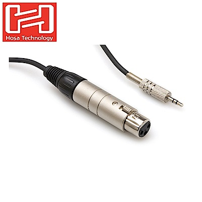 美國Hosa Technology麥克風轉接線音源線MIT-156(可將 XLR3-m公的設備接頭轉接成3.5 mm公 TRS接頭)
