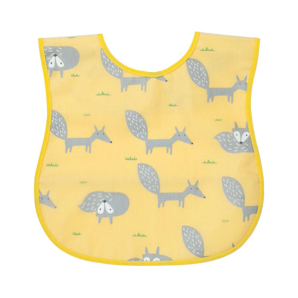 嬰兒立體反摺口袋防水圍兜(隨機出貨) g2650b 魔法Baby