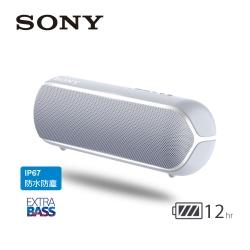 SONY 可攜式藍牙喇叭 SRS-XB22 灰色