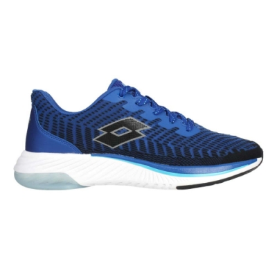 LOTTO 男避震慢跑鞋-路跑 運動 附贈鞋帶 LT0AMR2386 藍黑