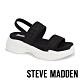 STEVE MADDEN-SUBLIME 輕鬆街頭布面寬帶厚底涼鞋-黑色 product thumbnail 1