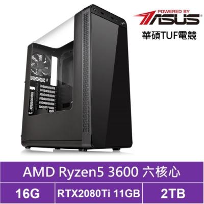 華碩B450平台[墨焰泰坦]R5六核RTX2080Ti獨顯電玩機