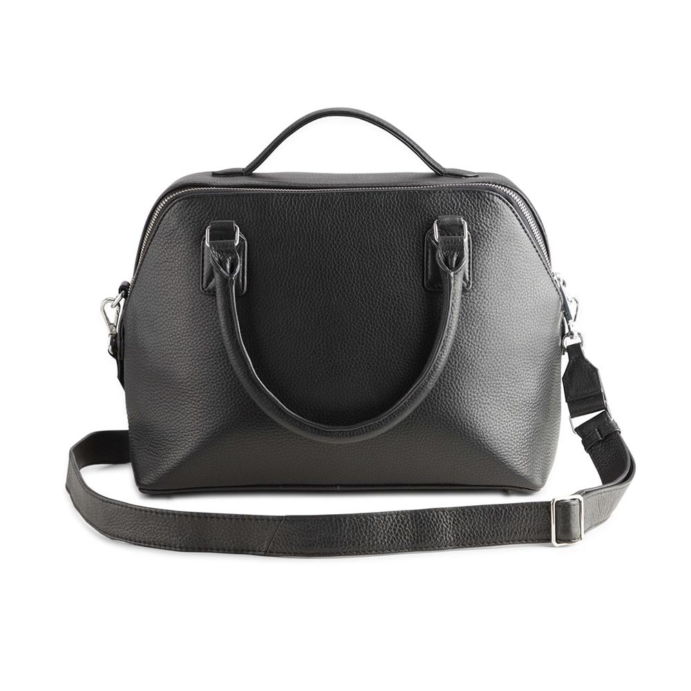 MARKBERG Evie 丹麥手工牛皮艾維大貝殼包 斜背包 手提包(極簡黑)