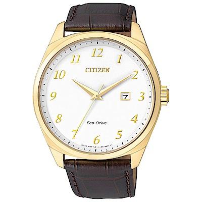 CITIZEN Eco-Drive (BM7322-06A)簡約經典男錶