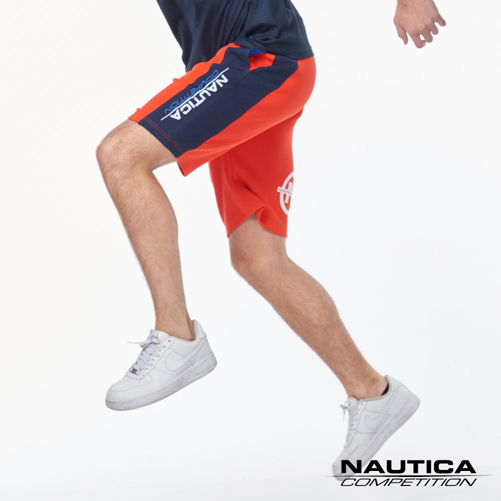 Nautica COMPETITION系列吸濕快乾休閒短褲-紅色