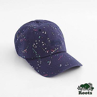 Roots配件- 潑墨棒球帽-藍