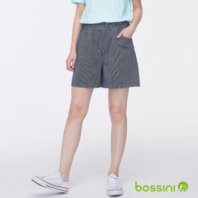 bossini女裝-時尚寬版短褲02牛仔藍