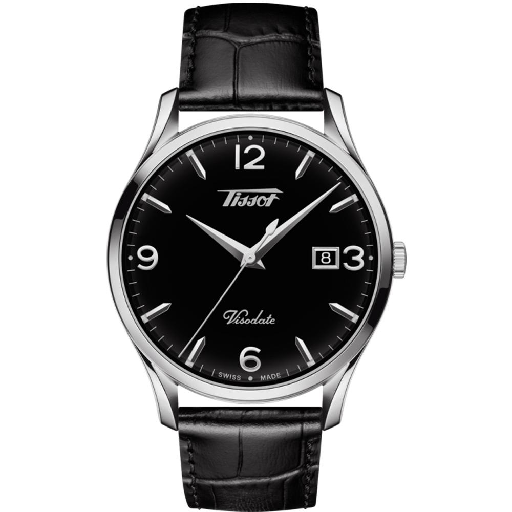 TISSOT 天梭 VISODATE 經典復刻石英錶(T1184101605700)