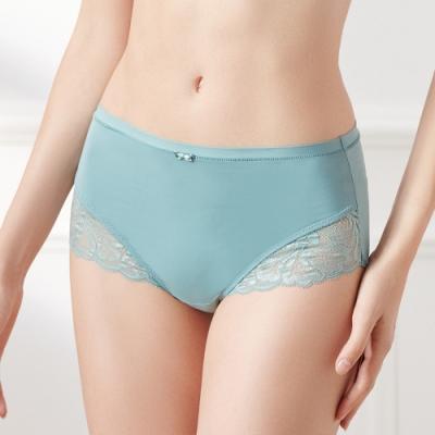 黛安芬-輕塑美型系列高腰三角內褲 M-EL 霜綠色