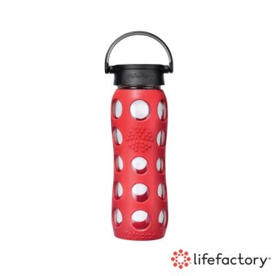 [下單送濾茶器] lifefactory 玻璃水瓶平口650ml-橘色(CLAN-650-ORB)