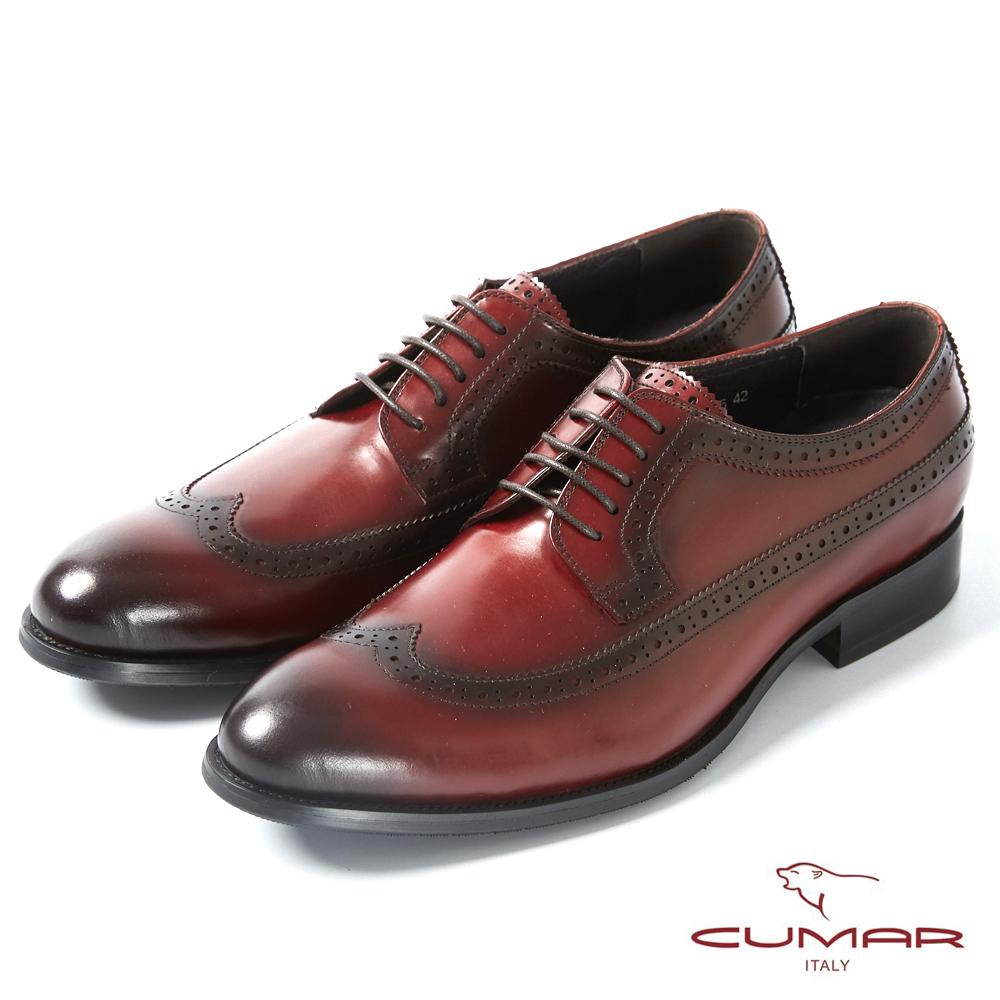 CUMAR英式牛津 復古質感正式皮鞋-酒紅 @ Y!購物