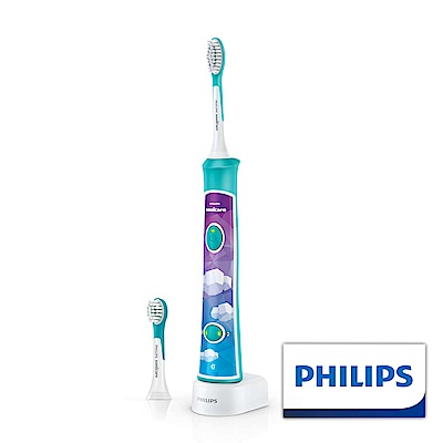 【Philips 飛利浦】Sonicare 新一代兒童音波震動牙刷/電動牙刷 HX6322