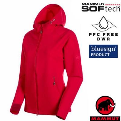 長毛象 女新款 SOFtech防風防潑水透氣耐磨軟殼外套_火龍果