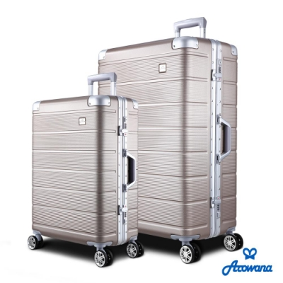 Arowana 亞諾納 航太橫紋25+29吋鋁框旅行箱/行李箱 (多色任選)