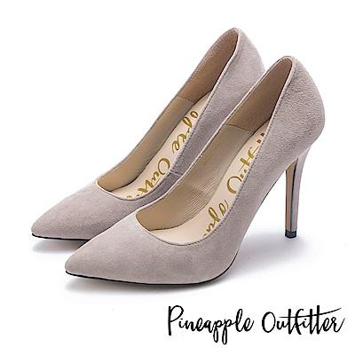 Pineapple Outfitter 性感尤物 素面尖頭高跟鞋-絨灰