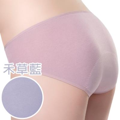 思薇爾 惹萌漾小鳥遊記系列M-XXL低腰日用生理褲(禾草藍)