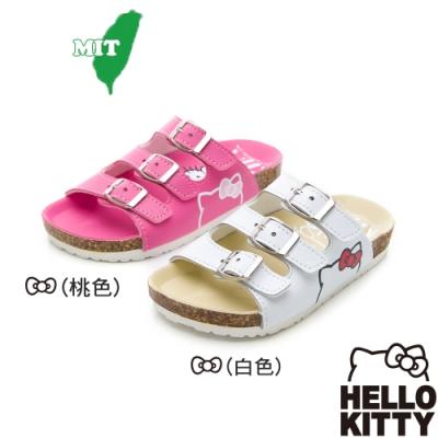 (雙11)Hello Kitty童鞋 輕量減壓腳床型鞋 白.桃