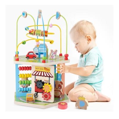經典木玩 多功能男女寶寶早教益智繞珠玩具(兒童教育玩具)18m+