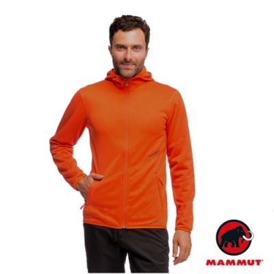 長毛象 男 Go Far Jacket Polartec 羽量級連帽保暖刷毛外套_暗桔