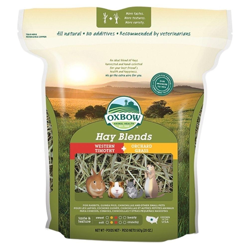 美國OXBOW - 雙重口感 提摩西+果園草 2in1 牧草-20oz裝(提摩西 果園草)