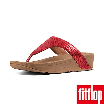 FitFlop CHAIN PRINT夾腳涼鞋紅色