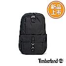 Timberland 男款黑色多功能夾層素面後背包