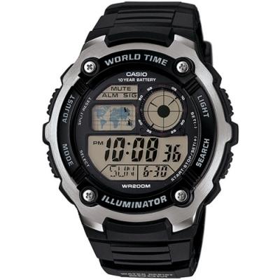 CASIO卡西歐 特迷你世界地圖電子錶(AE-2100W-1A)