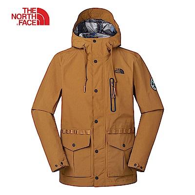 The North Face北面男款棕色防風防水衝鋒衣|3V3OUBT