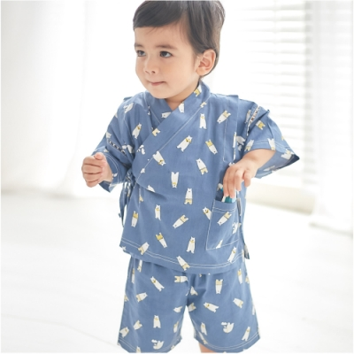 Baby童衣 日式和風男女童浴衣短袖套裝 60157