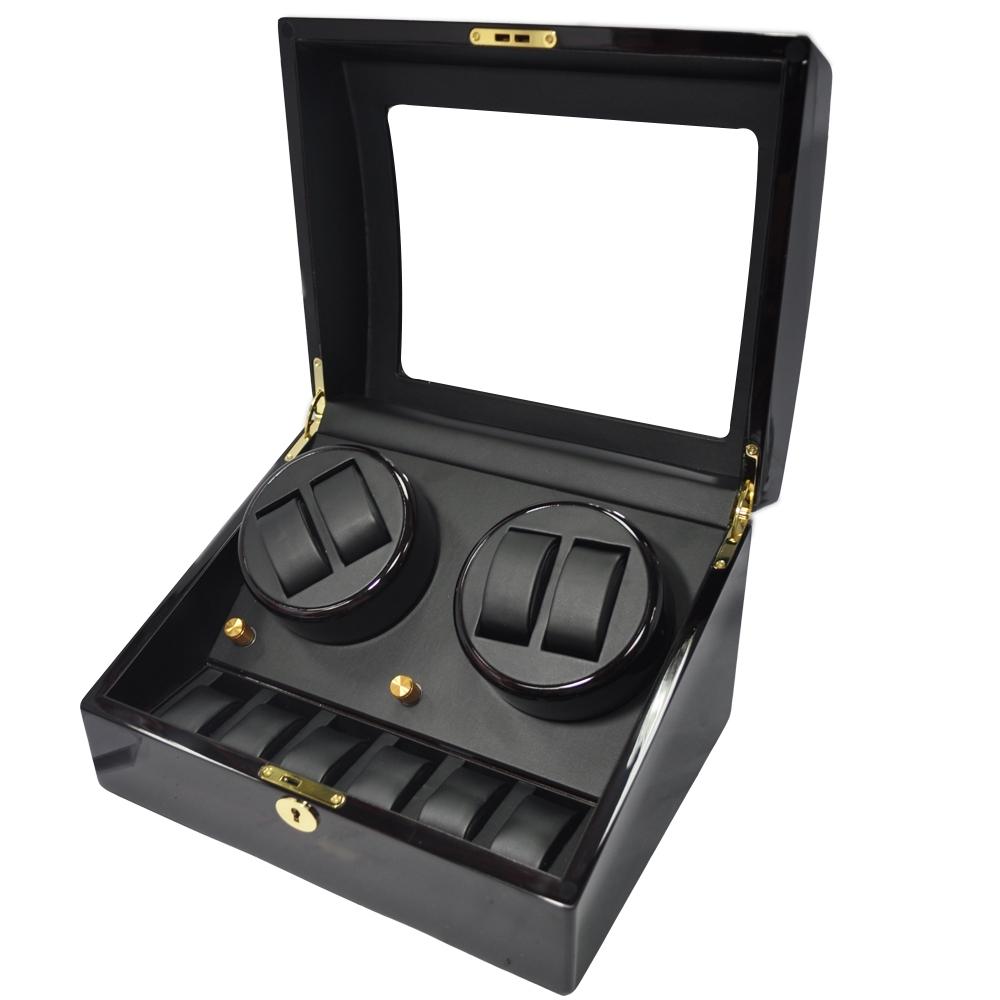 WISH 機械腕錶自動上鍊盒‧10只裝 -胡桃木紋