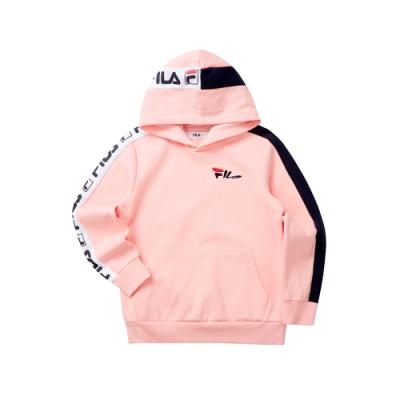 FILA KIDS 童長袖針織帽T恤-粉色 1TET-8438-PK