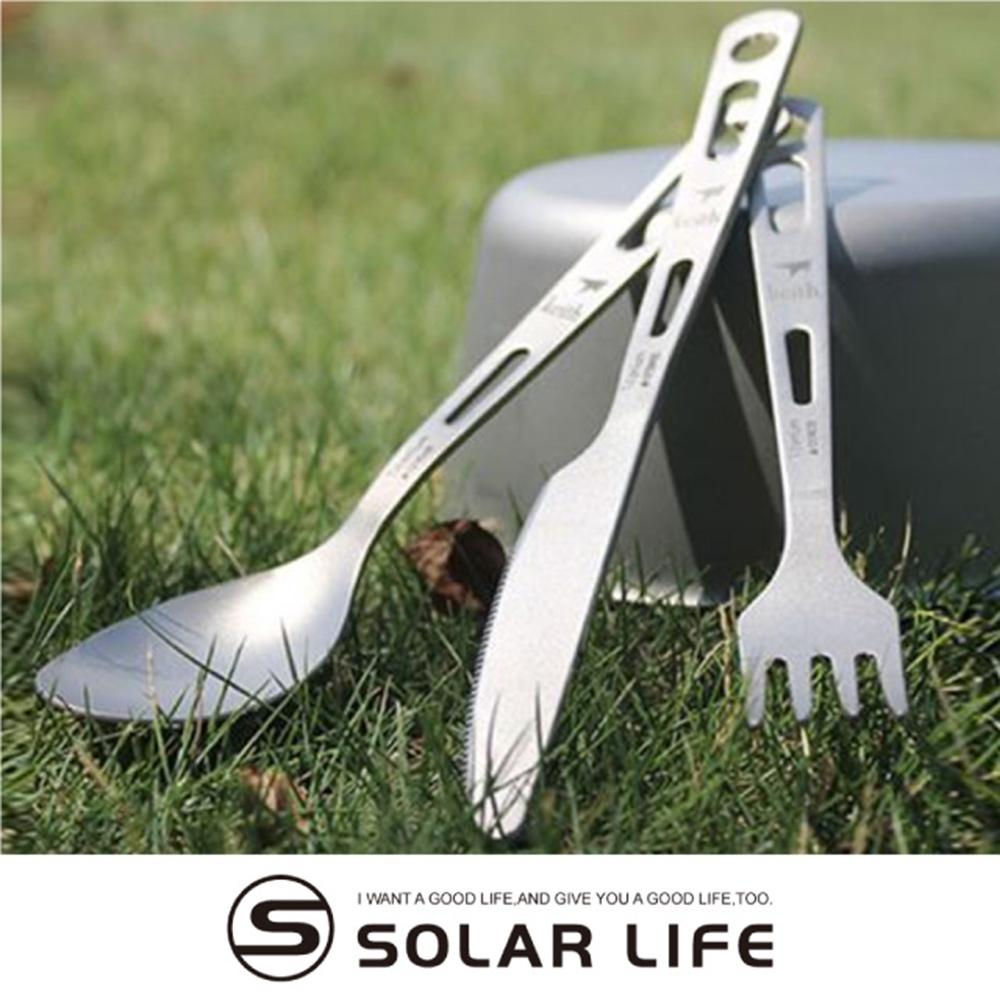 鎧斯Keith Ti5310純鈦刀叉湯匙攜帶式環保餐具組.戶外居家無毒鈦鈦金屬刀子餐叉子湯勺匙隨身餐具三件組
