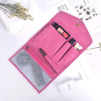 E.City 皮夾式帶勾多功能化妝收納包包中包