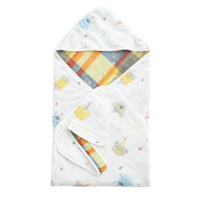 【限時滿額送玩樂劵】奇哥 動物派對六層紗包巾