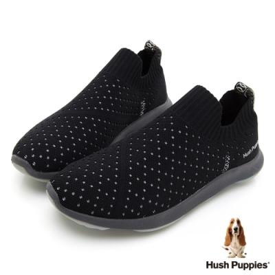 Hush Puppies Bounce Max 高效彈力休閒女便鞋-黑色