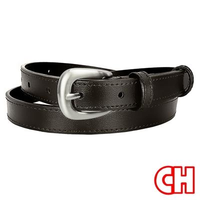 CH-BELT魅力四射流行細版曲線女生腰帶皮帶(咖)