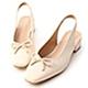 D+AF 完美小姐.珍珠蝴蝶結後空低跟鞋*白 product thumbnail 1