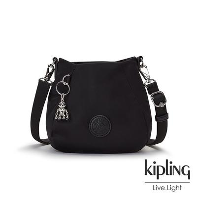 Kipling 低調沉穩黑蓓蕾型水桶肩背包-INNA