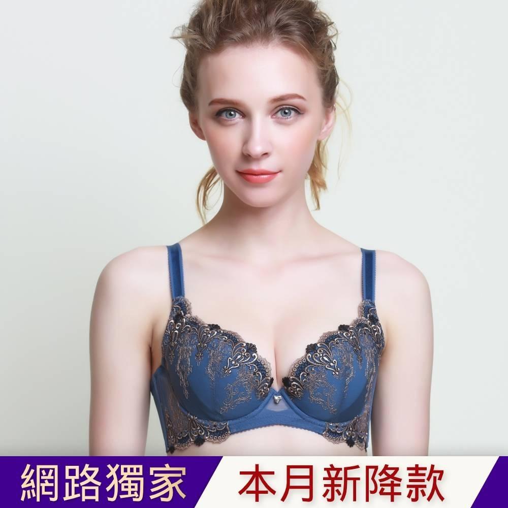 黛安芬-蝴蝶逆齡bra系列 B-E罩杯內衣 英國藍