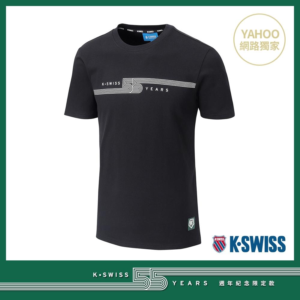 K-SWISS 55TH LOGO TEE棉質T恤-男-黑